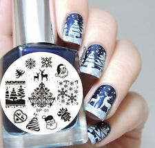 Reindeer Christmas Sweater Snow Nail Art Stamp Decals Nails Stamping Plate #011