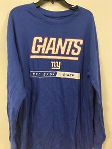 Majestic New York Giants Long Sleeve T- Shirt New Size XLT