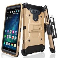 For LG V20 Rugged Swivel Holster Shock Proof Kickstand Case