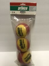 Prince Stage 3 Oversized Red Foam Tennis Balls 3 Pack Sealed And New