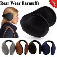 Unisex Winter Ear Warmer Ear Muffs Fleece Ear Warmers Behind the Head Band-RO