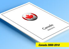 COLOR PRINTED CANADA 2000-2010 STAMP ALBUM PAGES (155 illustrated pages)
