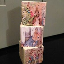 Beatrix Potter Peter Rabbit Wooden Blocks Nursery Vintage Very Shabby Chic