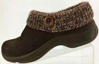 Dansko Clogs Kenzie Button Brown Nursing Professional Work Shoes Womens 39 8.5,7