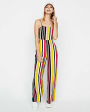 5fc66c78c07f NEW EXPRESS STRIPED CUT-OUT WOVEN JUMPSUIT SZ XS EXTRA SMALL