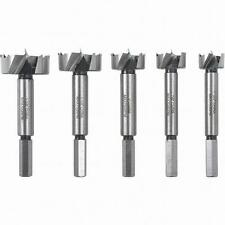 New 5pc Forstner Drill Bit Set 3/8 Hex Shank 3/4, 7/8, 1, 1-1/4, 1-3/8, Hole Saw