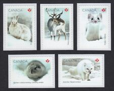 New! Canada 2021 = Snow Mammals = Arctic Fox, Deer, Hare = set of 5 from Booklet