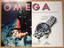 Omega Seamaster 1994 Two Page Spread Advertisement Pub Ad Werbung