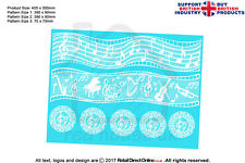 Cake Lace Mat | Musical Notes | Cakes Cupcakes Decorating Craft