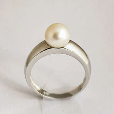 CULTURED PEARL RING 8mm FRESHWATER PEARL 925 STERLING SILVER SIZE O NEW