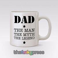 Papá El Hombre El mito The Legend Taza Té Café Cumpleaños De Padre Regalo Día