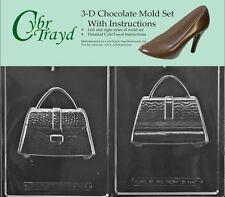 Cybrtrayd D111AB 3D Purse Chocolate Candy Mold Bundle with 2 Molds and Exclusive