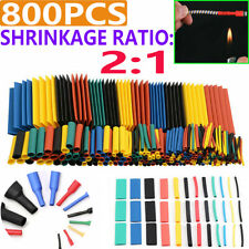 800X Heat Shrink Tubing Tube Sleeve Kit Car Electrical Assorted Cable Wire Wrap