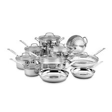 Cuisinart 77-17N 17 Piece Chef's Classic Cookware Set, Stainless Steel