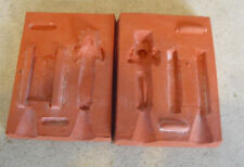 Unique Vintage Rubber Figurine Mold - Boy and Sled SR 211