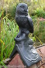 Black OWL decorative roof finial Angled or half round ridge frost proof stone