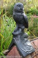 Black owl roof finial 90° angled or half round decorative stone ridge tile
