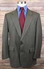 Hart Schaffner Marx Brown Windowpane 2 Button Wool Blazer Sport Coat 43L Vintage