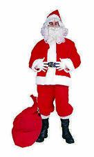 Suit Costumes for Men Santa Claus Size XL