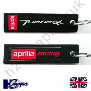 New Aprilia Tuono V4 Embroidered Keyring Key Chain UK Seller Fast Shipping