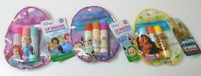 Lot of 3 Disney Lip Smackers 3 Assorted Flavors in Carrying Pouch BRAND NEW