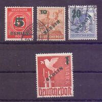 Berlin 1949 - Grün-Aufdruck - MiNr. 64/67 rund gestempelt - Michel 40,00 € (197)