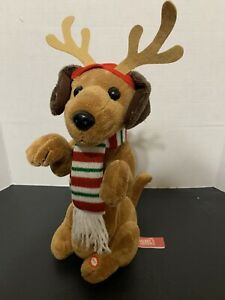 Rare Animated Singing & Dancing Christmas Santa Dachshund Kids Of America
