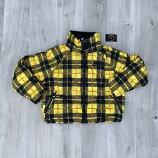 """NIKE W """"PRINTED"""" SYNTHETIC FILL PUFFER JACKET YELLOW BLACK SIZE SMALL CI5021-703"""