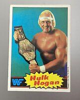 1985 Topps WWF WWE Blue SP Wrestling Card  #16 HULK HOGAN ROOKIE