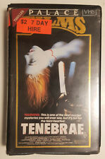 Tenebrae (Dario Argento, 1982) original Aussie VHS release on Palace Home Video