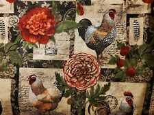 Chicken & hen, Cotton Fabric Scraps, Crafts, Quilting, Sewing Projects