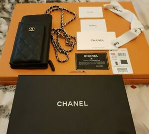 Chanel Classic Clutch with Chain Bag AP0990 Grained Black.