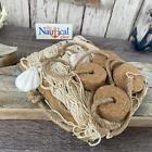 Внешний вид - 3x5 Decorative Fishing Net w/ Shells & Cork Floats - Off White Fish Netting