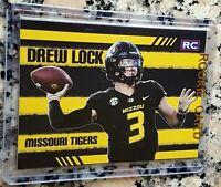 DREW LOCK 2019 Draft Pick Rookie Card RC Logo Denver Broncos Missouri Tigers $$$