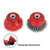75mm Abrasive Nylon Wire Cup Brush Wheel Angle Grinder Polishing Rust Removal