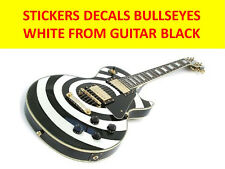 STICKERS BULLSEYES WHITE FROM GUITAR LES PAUL BLACK VISIT MY STORE CUSTOM GUITAR