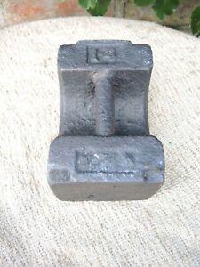 Vintage  14 lb  Cast Iron Weight  -  Door Stop  (1140)
