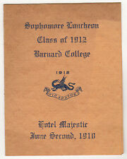 1910 BARNARD COLLEGE New York City LUNCH PROGRAM Columbia University NYC School