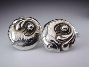 Gerog Jensen Cufflinks Sterling Silver Denmark Jewelry #13479