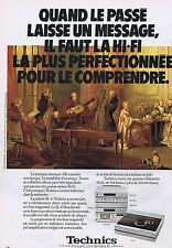 PUBLICITE ADVERTISING 035 1980 TECHNICS la HI-FI la plus perfectionnée