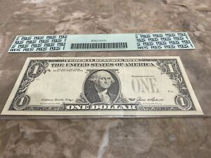 $1 1985 Federal Reserve Note  - Overprint on Back Error - 3rd Print Missing!!!