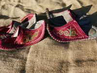 Filz Hausschuhe Handarbeit aus Kirgisien Filzpantoffeln Filzpuschen Filzschuh
