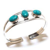 Beautiful Silver Plated Turquoise Cuff Bangel  Handmade Gemstone Jewelry