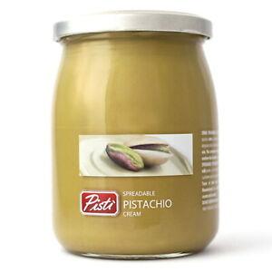 Pisti Sicilian Pistachio Cream Spread Bread Baking Spreadable Paste Jar 600g