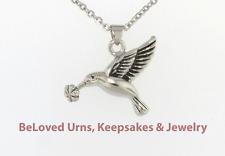 Hummingbird Cremation Jewelry Pendant Keepsake Memorial Urn Necklace & Funnel