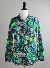 J. MCLAUGHLIN $168 Tropical Tiger Jungle Animal Print Shirt Top Size Large