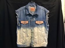 MENS LEVI BLEACHED WASHED TRUCKERS XL RED TAB 70507 DENIM JACKET VINTAGE USA