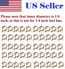 "50pcs 1/4"" 6mm (ID) Spring clip Fuel Oil Line Silicone Vacuum Hose Clamp"