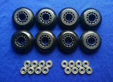 Outdoor Rollerblade Inline Hockey Fitness Skate Wheels (70mm  / 82A) + Bearings