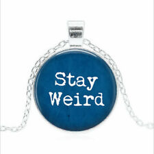 Stay Weird Tibet silver Glass dome Necklace chain Pendant Wholesale